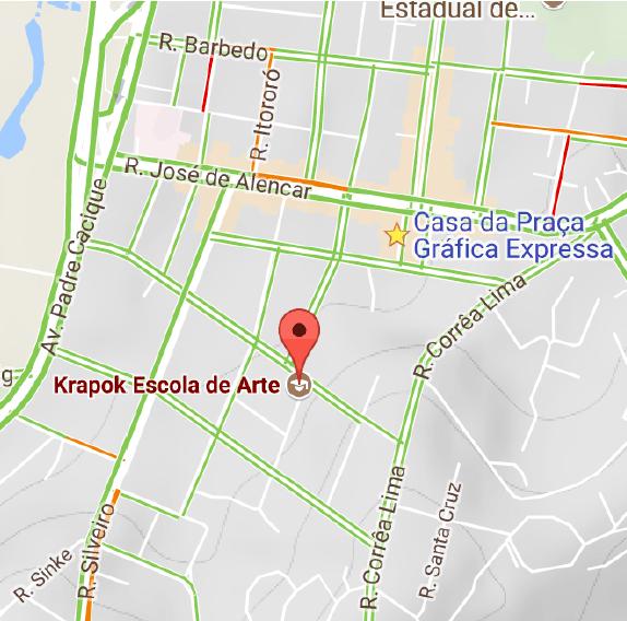 Localização Krapok Escola de Arte