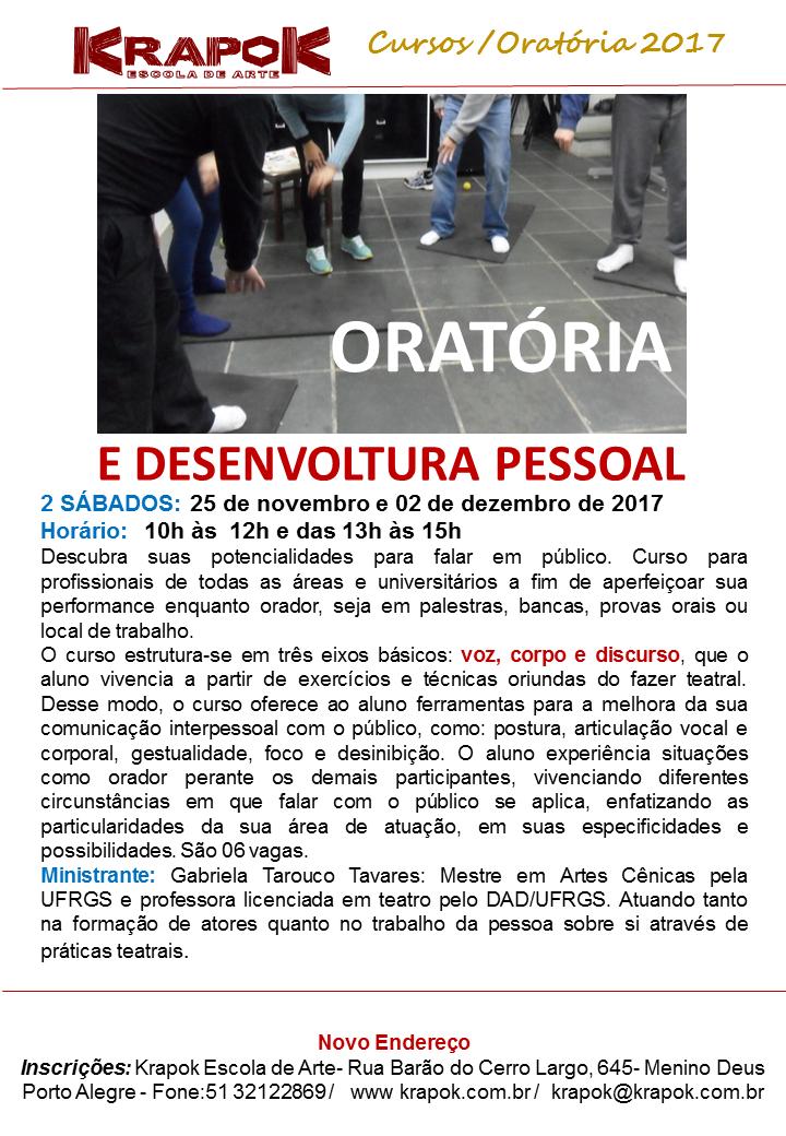 Curso de Oratória em Porto Alegre KRAPOK