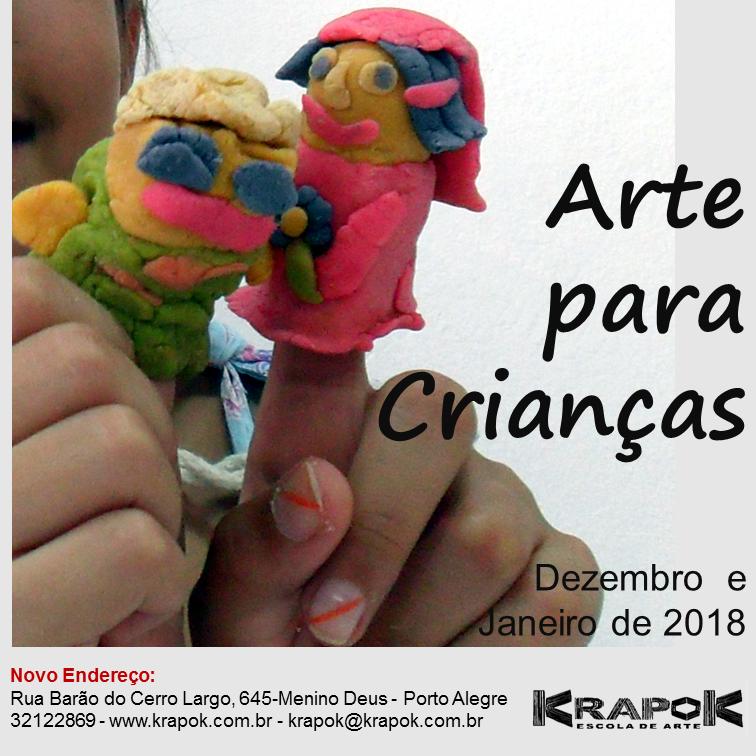 Arte para Crianças Krapok Escola de Arte POA