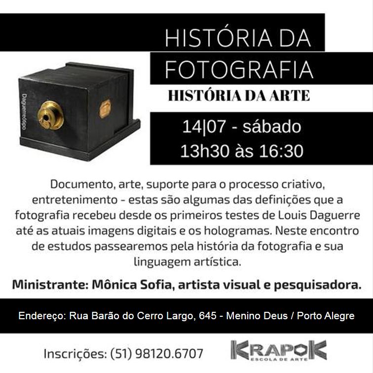 História da Fotografia KRAPOK Escola de Arte POA