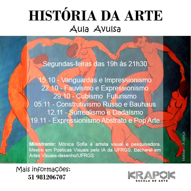 Curso de História da Arte KRAPOK em POA