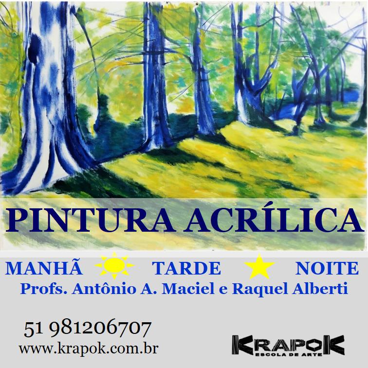 Curso de Pintura Acrílica KRAPOK Escola de Arte em POA