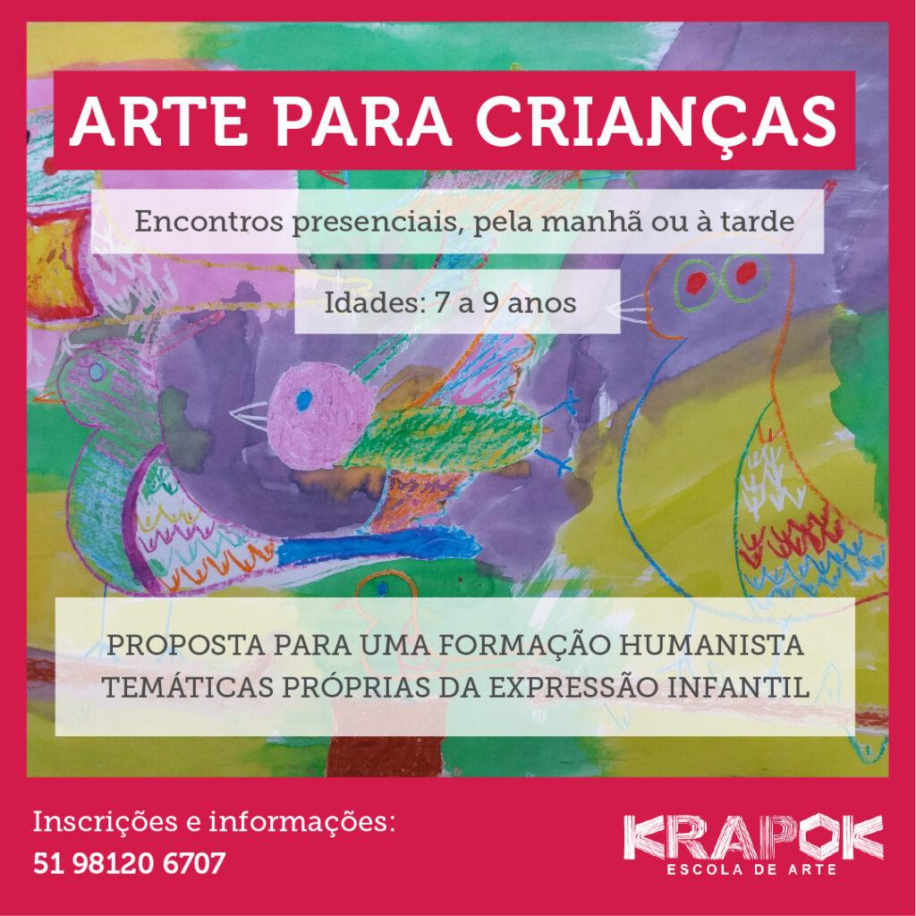 Arte para Crianças #krapokescola escola